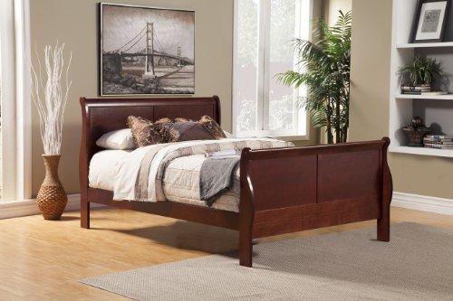Alpine Furniture 2700Q Louis Philippe II Sleigh Bed, Queen (Louis Philippe Cherry Queen Sleigh Bed Bedroom Furniture)