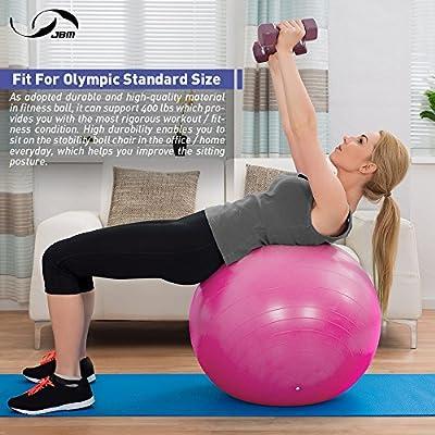 Amazon.com: JBM Pelota de yoga con bomba de aire (3 ...