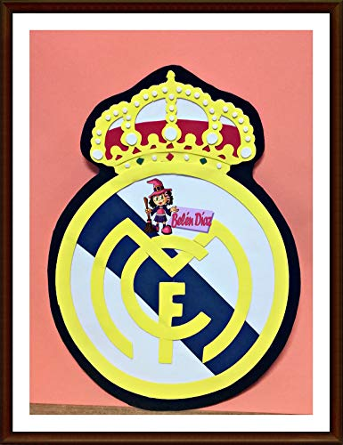 Escudo Real Madrid C.F. Goma Eva 40 cms.: Amazon.es: Handmade