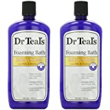 Dr. Teal's Foaming Milk Bath with Milk and Honey, 34 Fluid Ounce, (Pack of 2)