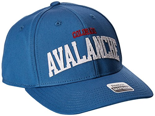 fan products of Reebok NHL Colorado Avalanche Women's SP17 Sequenced Structured Adjustable Cap, Blue, One Size
