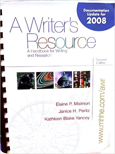 A Writer S Resource A Handbook For Writing And