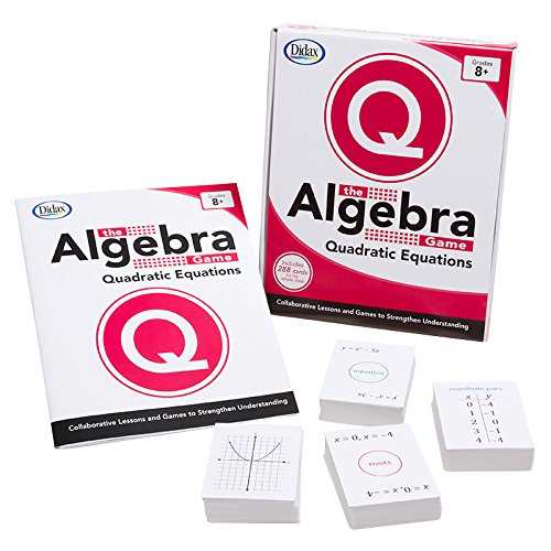 Didax Educational Resources The Algebra Game: Quadratic Equations Basic Educational - Algebra Game