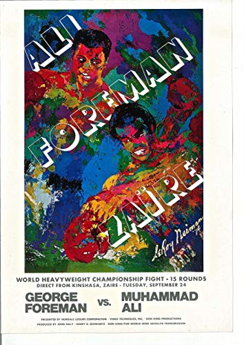 LEROY NEIMAN Poster for 1974 Ali-Foreman for The World Heavyweight Championship Fight Poster Reprint 16x11 Offset Lithograph ()