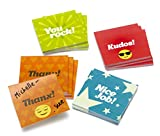 Mini Kudos Sticky Notes - Set of 12 Recognition Note Pads For Office & Classroom