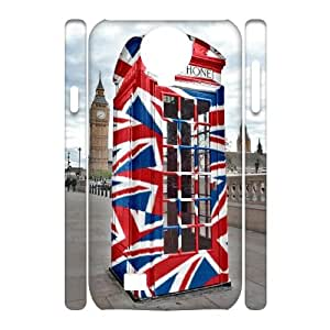 Custom Phone Box 3D Phone Case, Custom Hard Back Cover Case for SamSung Galaxy S4 I9500 Phone Box