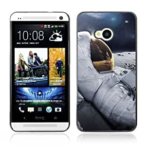 YOYOSHOP [Cool Moon Astronaut] HTC One M7 Case hjbrhga1544