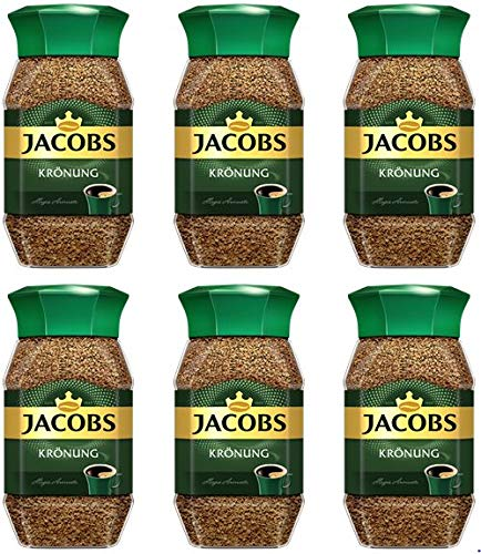 Jacobs Kronung Instant Coffee 200 Gram / 7.05 Ounce (Pack of 6) by Jacobs