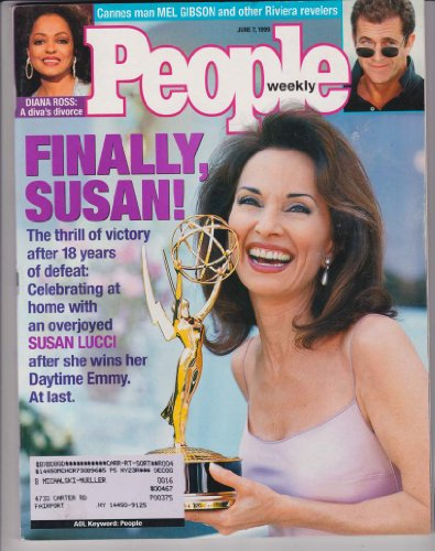 People Weekly Magazine SUSAN LUCCI WINS EMMY AWARD All My Children SOAP OPERA Tara Lipinski DANA PLATO Diana Ross MAX BAER June 7, 1999