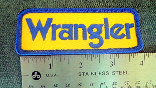Wrangler Jeep Blue and Gold Patch 4 Inches~ NEW Never Worn Embroidered Patch Sew On