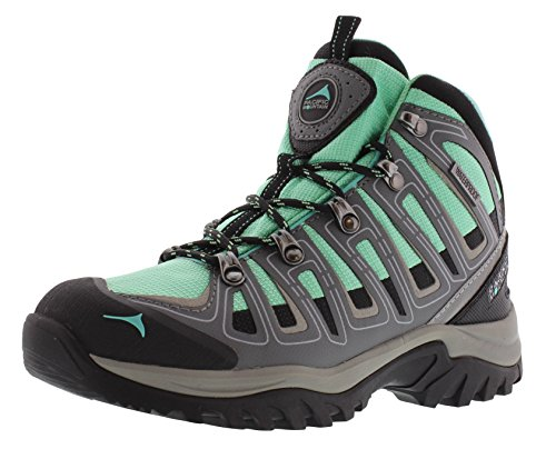 Pacific Mountain Incline Women's Waterproof Hiking Backpacking Mid-Cut Turquoise/Grey/Black Boots Size 9 by Pacific Mountain