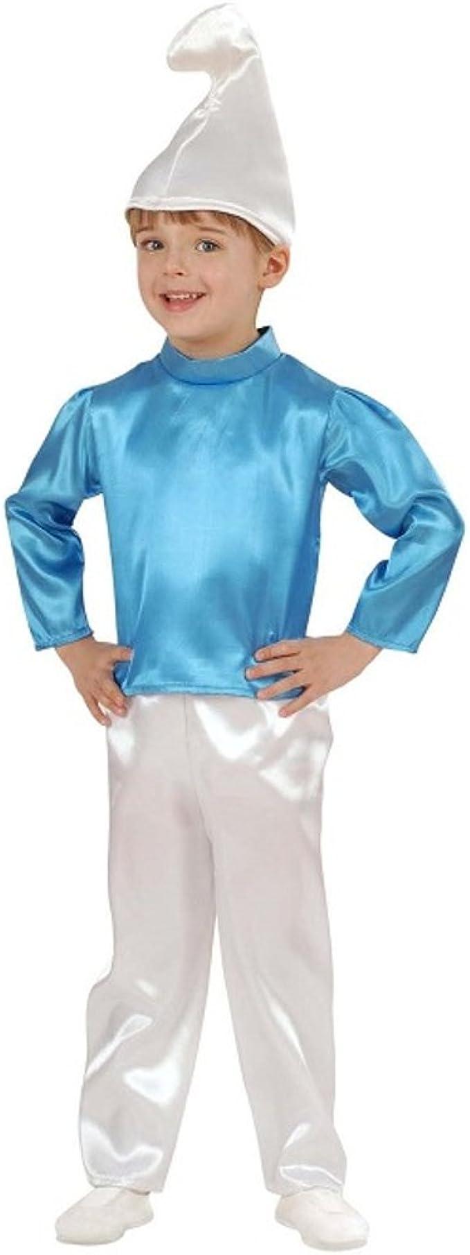 WIDMANN Disfraz Carnaval niño Disfraz niño Nano Azul Pitufo ...
