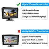 iStrong Digital Wireless Backup Camera System Kit for Car/Truck/Van/Pickup/Camper 4.3'' Monitor Rear/Front View Reverse/Continuous Use Guide Lines ON/Off Over 600ft Transmission