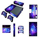 NDAD New Unique Protective Decals Skin Stickers for Microsoft Xbox One Blue Purple Lines