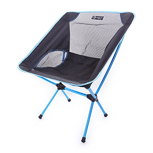 Gencorp JSC Ultralight Folding Camping Chair with Storage Pouch - Camping Seat, Foldable Chair for Outdoor Camping Leisure Picnic - Dallas Tri Shop