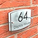 Displaypro Acrylic Glass Effect House Plaque With Fixings by Displaypro