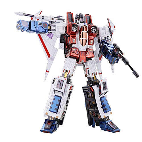 Aquaman Store Model Building Kits - Starscream G1 3D Metal Model Kits DIY Assemble Puzzle Laser Cut Jigsaw Building Toy YM-L078 1 PCs