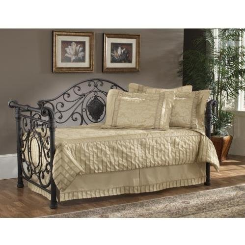 Mercer Daybed (Mercer Metal Sleigh Daybed in Antique Brown)