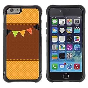 "Pulsar iFace Series Tpu silicona Carcasa Funda Case para Apple iPhone 6+ Plus(5.5 inches) , Marrón Beige Evento Feliz Waffle"""