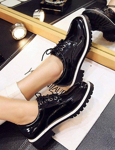Njx Hug Damen Schuhe Patent Leder Plattform Komfort Square Square Square Toe Fashion Turnschuhe Outdoor Casual Athletic schwarz grau B01KHBTR2S Schnürhalbschuhe Sehr praktisch 81bd00