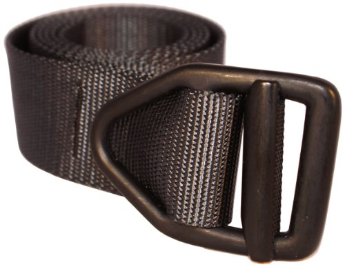 Bison Designs 38mm Wide Light Duty Belt with Black Buckle (Black, 42-Inch Maximum Waist/Large)