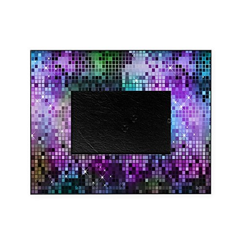 CafePress - Disco Mirrors in Purple and Green - Decorative 8x10 Picture Frame ()