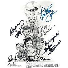 "MASH"" Signed by ALAN ALDA, LORETTA SWIT, WAYNE ROGERS, LARRY LINVILLE, MCLEAN STEVENSON, and GARY BURGHOFF TV Series 1972-83 8x10 B/W Photo"