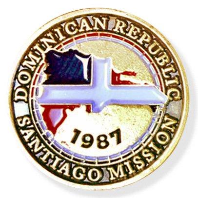 LDS Dominican Republic Santiago Mission Commemorative Lapel ()