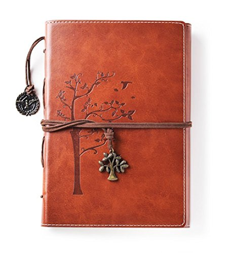 Lined Vintage Wrap (Lined Refillable Vintage Writing Journal for Women, Retro Tree of Life Faux Leather Cover Notebook/Travel Diary,Wide Ruled Paper,Daily Use Gift for Bloggers/Teachers/Students/Children)