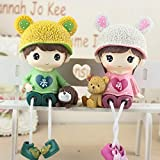 Figurines Miniatures - Cute Couple Hanging Foot Doll Resin Cartoon Ornaments Modern Home Decoration 2pcs Set Cameos - Ornament Dolls Resin Cabochon Foot Cartoon Cute Decor Couples Setting