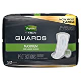 Depend dpGWjn Incontinence Guards for Men, Maximum Absorbency, 52 Count