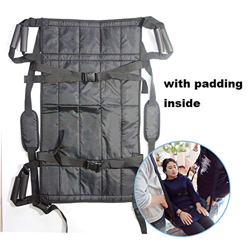 (Padded Patient Lift Transferring Belt Board Emergency Evacuation Chair Wheelchair Full Body Medical Lifting Sliding Sling Transfer Belt for Seniors,Handicapped,Elderly,Bedridden (Board Padded Inside))