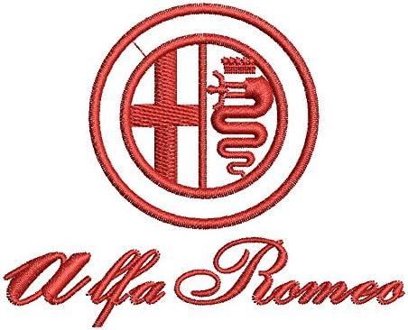 Really Premium Quality 8123 Black avstickerei Alfa Romeo Embroidered Veste car