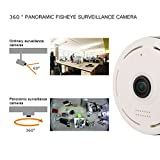 Mercu 960P HD E2 Panoramic WIFI Home Business Security IP Camera with Real Time 32ft Night View, ePTZ Fuction-360 Degree Fisheye P2P, Motion Detection(White)
