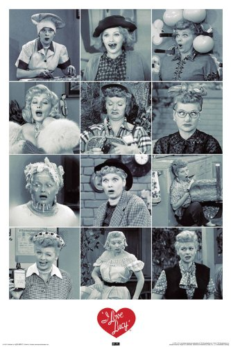 Nmr 241087 I Love Lucy Text Decorative Poster