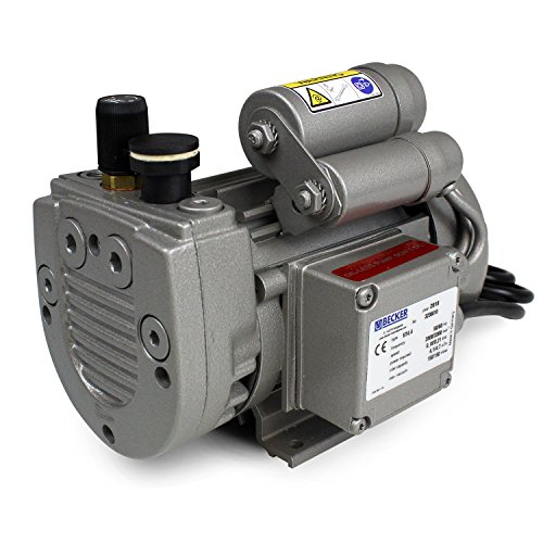 Fibre Glast - Oil Free - Very Low Maintenance - Rotary Vane Vacuum Pump -Medium Duty, Continuous Operation, 2.8 CFM Air Flow.3HP, 25.5 HG, Low Heat & Noise