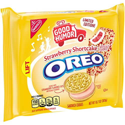 Oreo Seasonal Good Humor Strawberry Shortcake Sandwich Cookies, 10.7 Oz