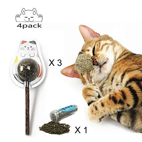 Pegcats Cat Favorite Catnip Toys,Organic Cat Mint Ball Stick,100% Natural,Cat Teeth Cleaning, Emotional Stability,Behavior Correction