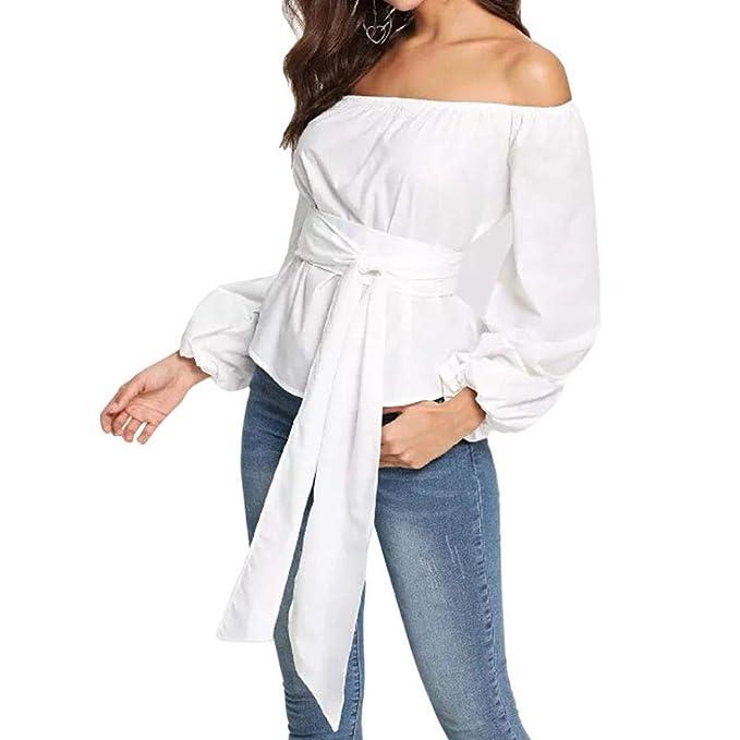 027af89b2 Oksale Baby Girl s Autumn Off Shoulder Long Sleeve Blouse Tops ...