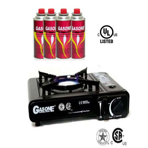 - GAS ONE Portable Butane Gas Stove With 4 Butane Fuel by GASONE