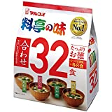Marukome Restaurant Style Taste Miso Soup 4 Flavor x 8 each (32 Meals) (Japan Import)