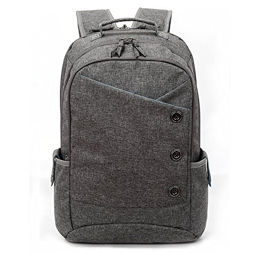 Gray Womens Backpack (KINGSLONG Backpack for Men and Women, 15.6 Inches Laptops Waterproof Shockproof School Bag to Travel Business Work Daypack Shopping Backpack(gray))