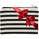 Canvas Zipper Pouch, Back To School Student Supplies Organizer, Best for College Dorm Room Accessories, Students BTS Organization Bag, Pouches Hold 50 Pencil-Make Up-Toiletries-Phones-Electronics