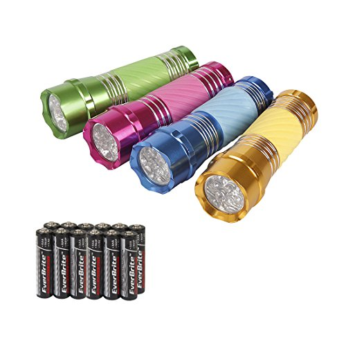 Everbrite 4 Pack Aluminum Flashlight Assorted product image