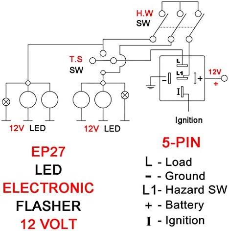 Amazon.com: EP27(EFL-4) for GM FOR-D F150 F250 F350 F450 TRUCK Custom 5 Pin  Flashers Compatible LED Electronic Turn Signal & Hazard Warn Hyper Flash  Flasher Relay: AutomotiveAmazon.com