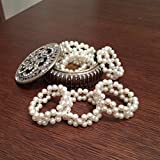 Handmade Pearl Beaded Napkin Rings- Wedding pearl napkin rings- 1 Piece or set of 6