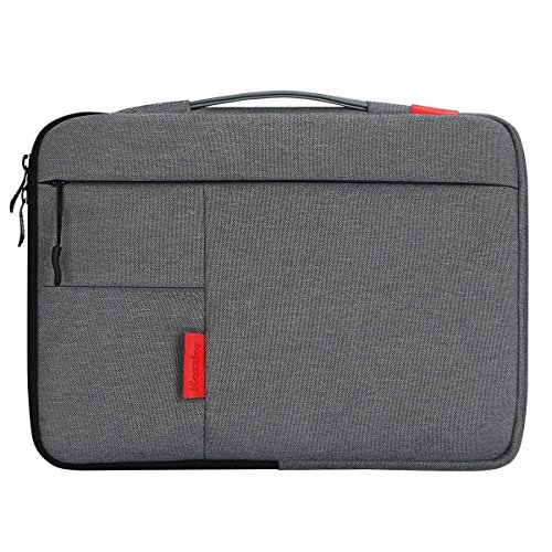 iCozzier 11.6-12.5 Inch Handle Strap Laptop Sleeve Case Bag Protective Bag for Macbook Air/Macbook Pro / Pro Retina Sleeve - Dark Gray Photo #3