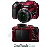 Nikon Coolpix P610 Screen Protector, BoxWave [ClearTouch Glass] 9H Tempered Glass Screen Protection for Nikon Coolpix P610