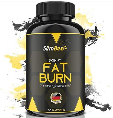 SLIMBEE - Fettverbrenner + Abnehmen - leicht und effektiv + Hergestellt in DE + Nahrungsergänzungsmittel + 30 Kapseln + Geld-Zurück-Garantie!