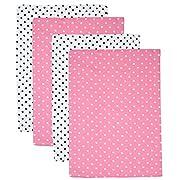 Gerber Prefold Gauze Cloth Diapers, 4 Count, One Size (Polka Dot)